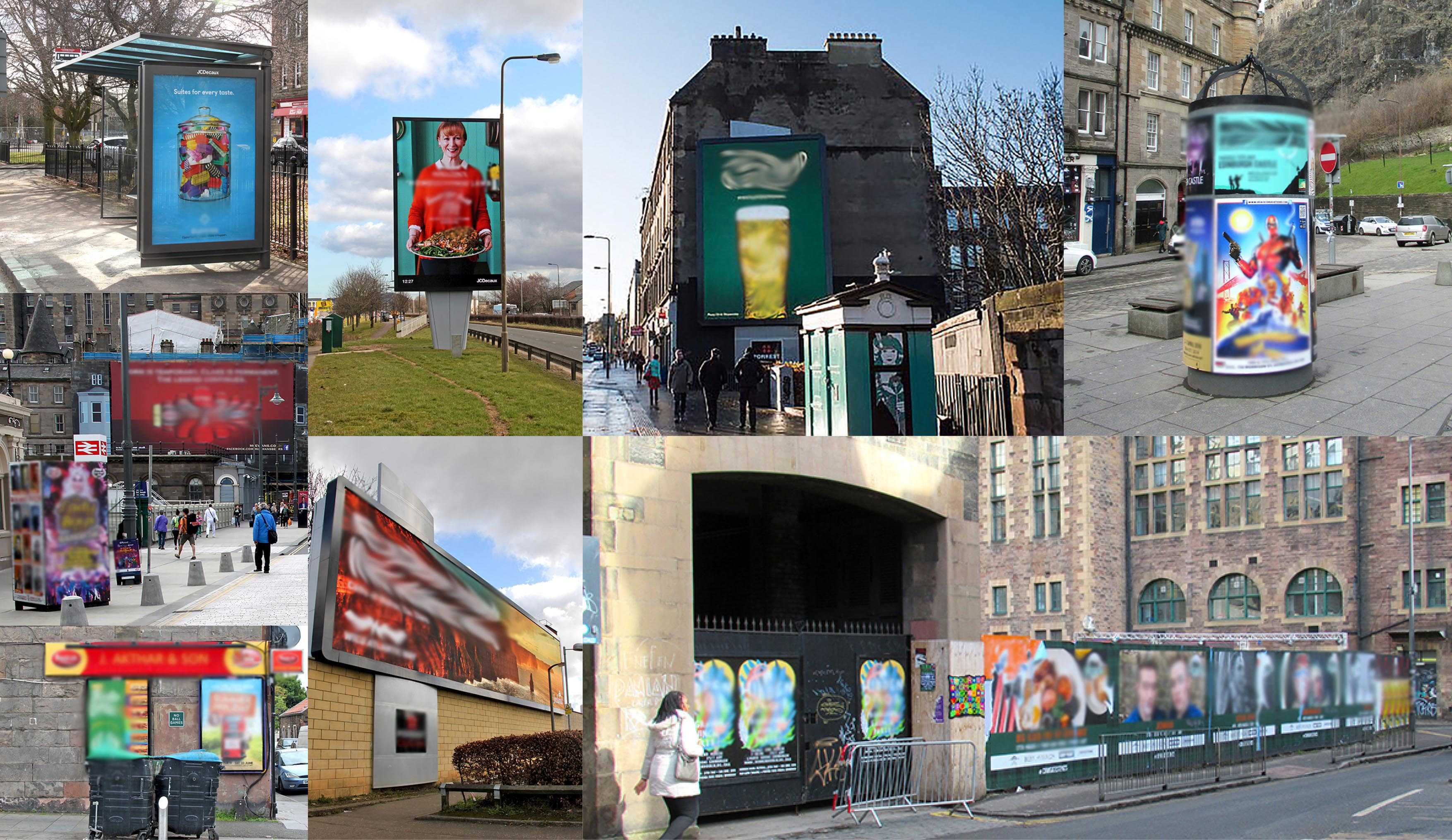 Outdoor advertising: a selection of sites